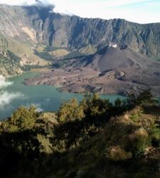 Beatiful view atop Mount Rinjani